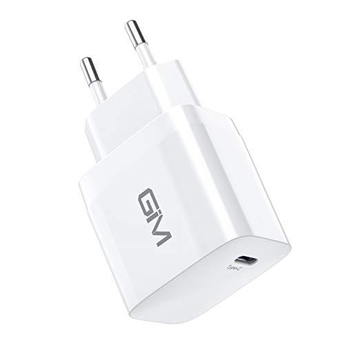 GIM USB C Ladegerät Adapter Nezteil für iPhone 12 Quick Charge 3.0 20W Schnellladegerät Fast Charger