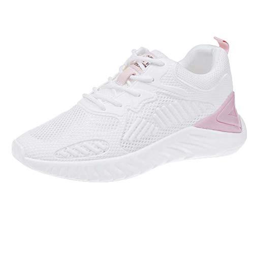 Shoes-HY Frauen Turnschuhe Ultra Lightweight Mesh Gym Running Walking Tennis Schuhe,Rosa,39