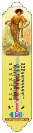 Thermometre Deco Metal PUB Retro Champagne POMMERY