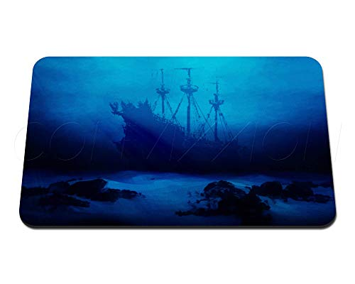Ancient Shipwreck Custom Game Mat Premium Neoprene Playmat for Card Games | Magic the Gathering TCG LCG Ocean Sea 18' x 12' x 2.5mm