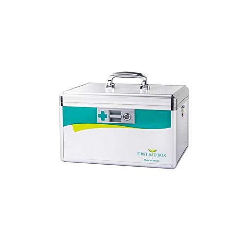 Haushalt aluminiumlegierung Medizin Box mehrschichtige verbandskasten tragbare medizinische Box Medizin aufbewahrungsbox eine Vielzahl von größen WGLGL (Size : 400×235×230mm)