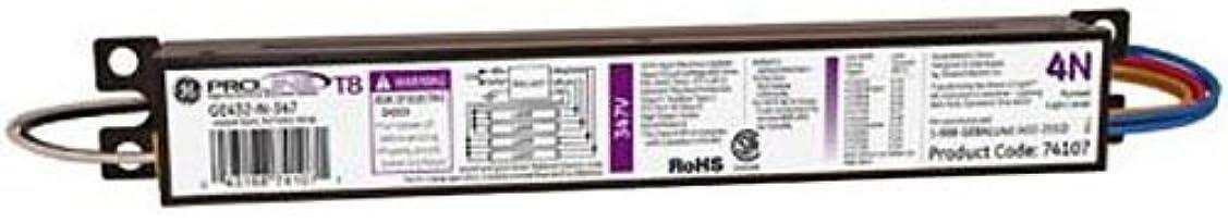 出費風変わりな空虚GE Lighting 74107 GE432-N-347 347-Volt ProLine Electronic Fluorescent T8 Standard Instant Start Ballast 4 or 3 F32T8 Lamps by GE Lighting