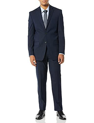 Chaps Navy Windowpane Classic Fit Suit
