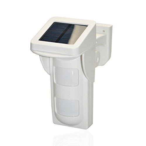 Safe2Home® hochwertiger Außen Solar Bewegungsmelder Tierimmun für Funk Alarmanlage Safe2Home SP110 / SP210
