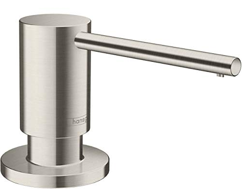 hansgrohe Bath and Kitchen Sink Soap Dispenser, Focus 3-inch, Modern Soap Dispenser in Stainless Steel Optic, 40438801