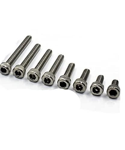 20 piezas M3 * 6 mm / 8 mm / 10 mm / 12 mm / 16 mm / 20 mm / 25 mm / 30 mm Tornillos de acero inoxidable M3 Allen Tornillo de cabeza hueca hexagonal Tornillo Sujetador-20 piezas 6 mm