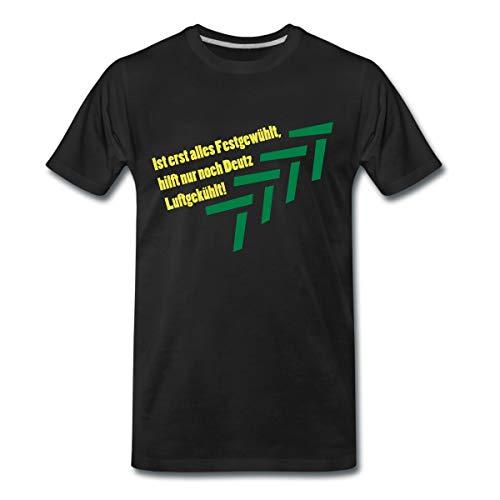 Traktor Landwirtschaft Deutz Luftgekühlt Spruch Männer Premium T-Shirt, XL, Schwarz