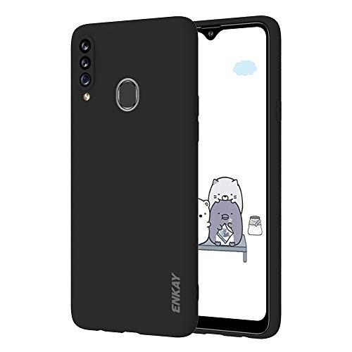 ZHENGNING Custodia protettiva for Samsung Galaxy A20S Hat-Prince ENK-PC040 ultradünne Normallack TPU dünner Fall Soft Cover Custodia sottile per Smartphone (Color : Black)