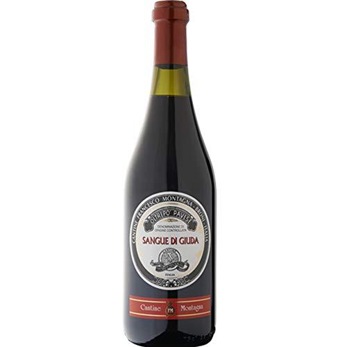 Sangue di Giuda dell' Oltrepò Pavese Doc | Cantine Montagna | Vino Rosso Dolce da 75 Cl | Idea Regalo