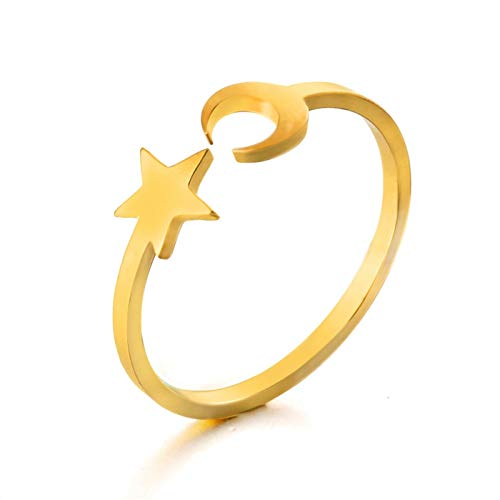 Daawqee Damen-Ring, New Classical Gold Silver Color Unlimited Ring Fashion Number Eight Ring for Women Adjustable Engagement Wedding Gift Jewelry R020023AB Resizable