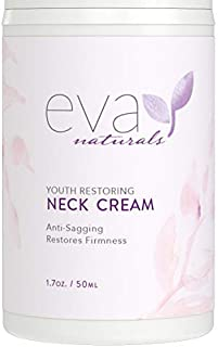 Neck Firming Cream by Eva Naturals (1.7 oz) Airless Pump - Firming Lotion for Sagging Neck, Face, and Décolleté - Fights W...