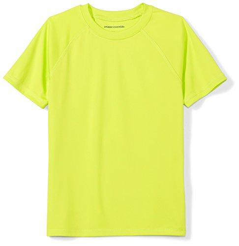 Amazon Essentials Little Boys' Swim Tee, Lime Popsicle, S (6-7)