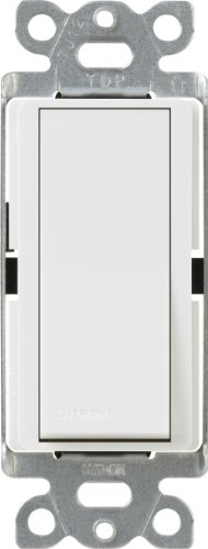 Lutron, White CA-3PSNL-WH Diva Satin Colors 15-Amp 3-Way Switch with Locator Light, 1 Pack
