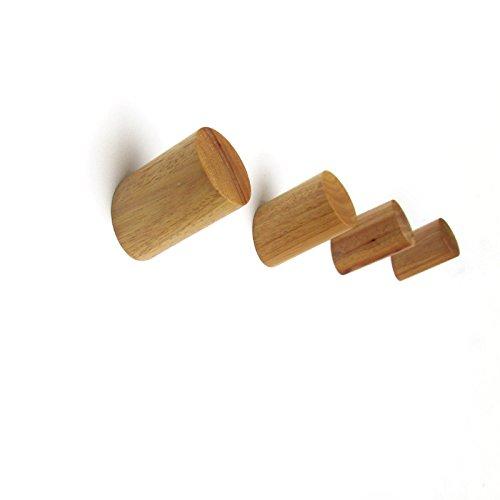 Perchero de pared de madera de roble maciza, color natural, moderno, e