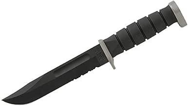 KA-BAR 1281, D2 Fighting/Utility Knife, Serrated, Black Cordura Sheath