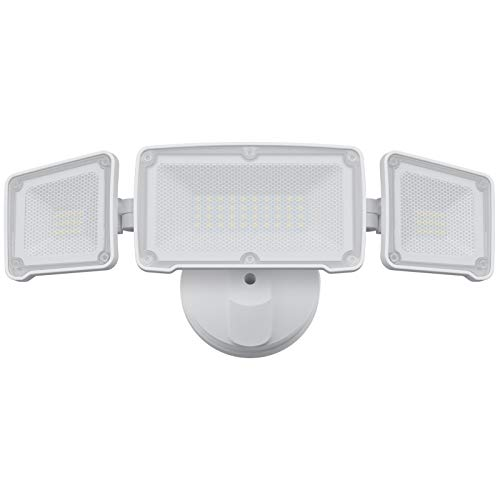 Dusk to Dawn LED Flood Light Outdoor, GLORIOUS-LITE Security Light Outdoor with Photocell, 35W, 3500LM, IP65 Waterproof, 5500K, Full Metal, Adjustable LED Exterior Light, Outdoor Light for Backyard