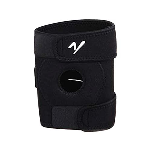 QIKELU Verstellbare und atmungsaktive Patella-Knieorthese zur Linderung von Gelenkschmerzen Sport-Fitness-Orthese