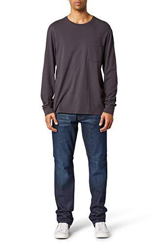 HUDSON Jeans Men's Byron 5 Pkt Straight Zip Fly Denim, Position, 40