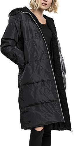 Urban Classics Damen Ladies Oversized Hooded Puffer Coat Mantel, Schwarz (Black/Black 825), Medium