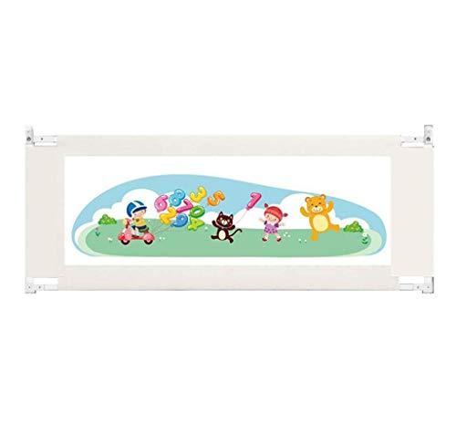 WYJW Sicherheit Kinderbettschutzgitter, Bettschutzgitter, zusammenklappbar und waschbar 0~6 Monate Babybettgitter, 68~80 cm Höhenverstellung Sicherheitshöhe (Größe: L-180 cm)