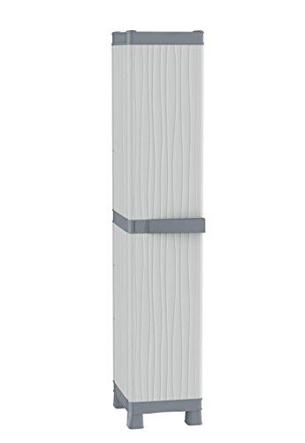 Terry Base 2350 RUW Armario 1 Puerta con 4 Capacidad máxima del Estante: 15 kg distribuidos de Forma Uniforme, Gris, 35x43,8x181,8 cm