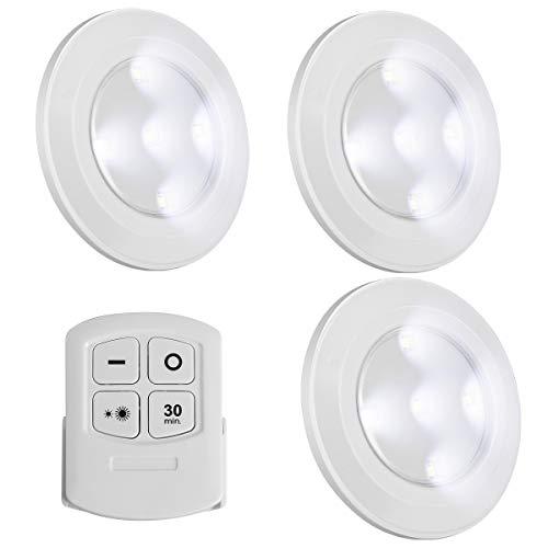 Luz LED inalámbrica con mando a distancia, luz nocturna bla