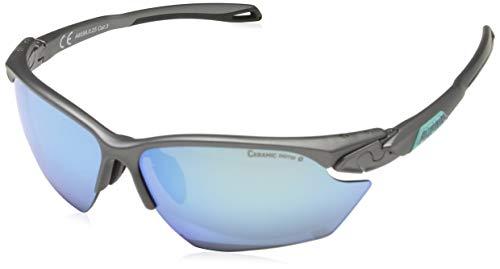 ALPINA TWIST FIVE HR S CM+ Sportbrille, Unisex– Erwachsene, tin matt-emerald, one size