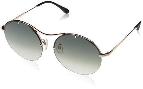 Tom Ford FT0565 28B 58 Monturas de gafas, Dorado (Oro Rosã LucidoFumo Grad), 58.0 Unisex Adulto