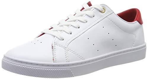 Tommy Hilfiger Tommy Lace Up Casual Sneaker, Scarpe da Ginnastica Basse Donna, Bianco (White/Blackforest 0le), 38 EU