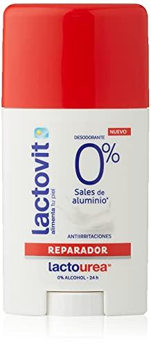 Lactovit - Desodorante Extra Eficaz 0% en Stick LactoUrea, sin Sales de Alumino, 0% Alcohol, Anti-Irritaciones y 48H de Eficacia - 50 ml