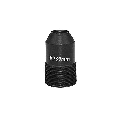 OWSOO Objektiv HD 2.0 Megapixel Pinhole 22mm Objektiv CCTV MTV Board Objektiv M12 Mount Objektiv 1/2.7 Zoll Bildformat Blende F1.6 für Überwachungskamera