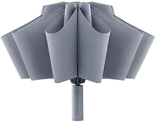 Dewanxin para 90fun Paraguas Plegable,Paraguas Apertura/Cierre Automático,Paraguas Invertido Secado Rápido con Linterna,Anti-UV...