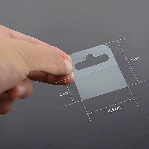 Euro Hole Hang tabs self-Adhesive 50 x 46 mm, self Adhesive Flexible Transparent Hooks Hanger with Euro Hole, 120 Pcs