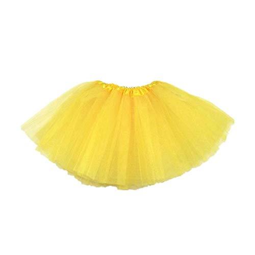 Ballett Half Body Tüllrock 3 Ebenen Prinzessin Kleid Ballett Tüll Halloween Verkleiden Rock Für Mädchen Gelb