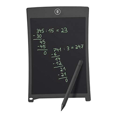 Wedo 66908501 LCD Schreib und Maltafel, mit Stift, Magnetstreifen, elektronische Löschung, 14,3 x 0,4 x 21,9 cm, schwarz