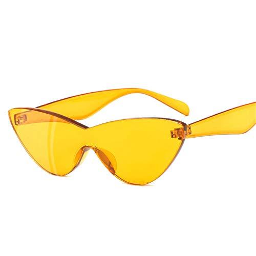 HHAA Gafas De Sol De Una Pieza para Mujer, Diseñador De Marca, Lindo, Sexy, Retro, Ojo De Gato, Vintage, Barato, Gafas De Sol Rojas para Mujer Uv400