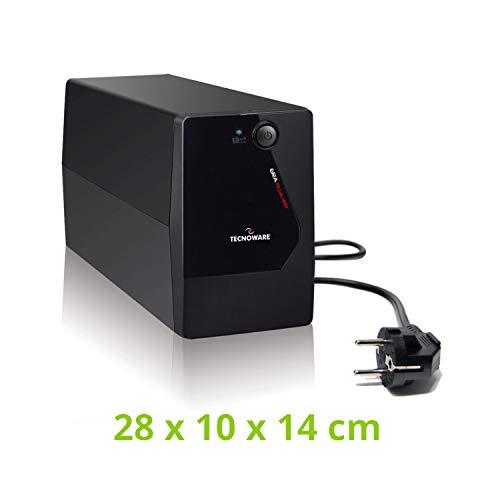 Tecnoware Ups Era Plus 1100 - Gruppo di Continuità - Uscite Schuko - Autonomia fino a 17min/PC o 60min/Modem - Stabilizzazione AVR - USB con Software TecnoManager per Gestione UPS - Potenza 1100 VA