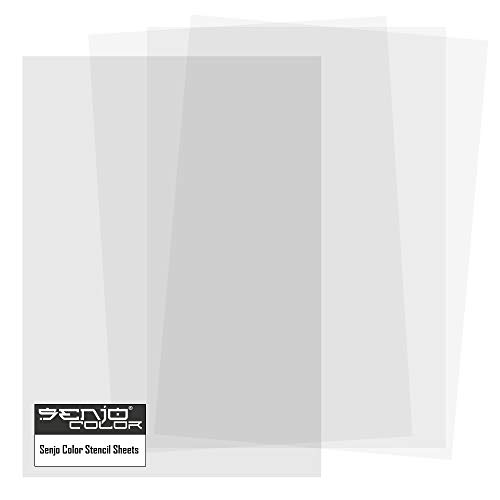 Senjo Color Schablonenfolie I 10 x DIN A4, 0,25 mm I Halbtransparente Folie zum Schneiden mit Cutter, Laser, Stencilburner und Plotter I Airbrush-Folie