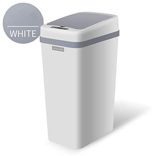 BTASS Große Kapazität Automatischer Mülleimer, Sensor-Kosmetikeimer, Automatisches Öffnen/Schließen – Fingerabdruckfrei Wohnzimmerküche Schlafzimmer Badezimmer Abfalleimer