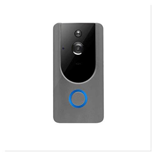 YQQQQ Timbre con Video Inteligente Timbre con Video 720P Intercomunicador de Seguridad IP Timbre de Puerta Inalámbrico WiFi (Color : Only Doorbell)