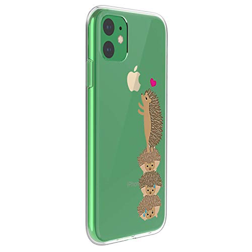 Caler - Cover per iPhone 11 Pro, trasparente, ultra sottile, in silicone morbido, antiurto, in TPU di protezione