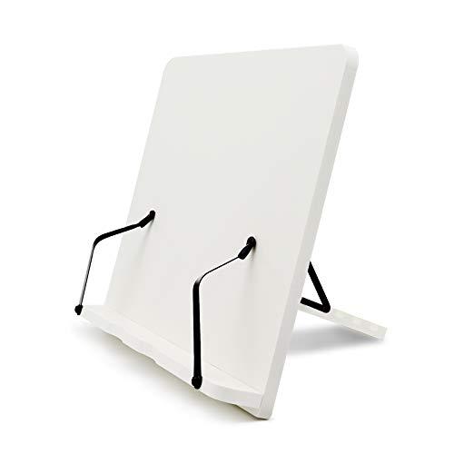 Leseständer Kochbuchhalter 33.5x23.7cm Rezepthalter, Buchstütze, faltbar Lesepult-Holz, Buchhalter für Kochbuch, Rezept, iPad,verstellbar Buchhalter für Lesen,Küche und Büro,Leicht zu reinigen