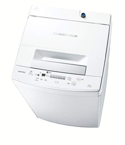 東芝 4.5kg 全自動洗濯機 ピュアホワイトTOSHIBA AW-45M7-W