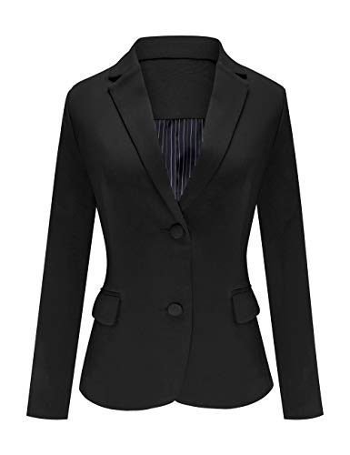 DAVID.ANN Men's Casual Blazer Jacket Slim Fit Sport Coats Lightweight One Button Suit Jacket,#1 Black,Large