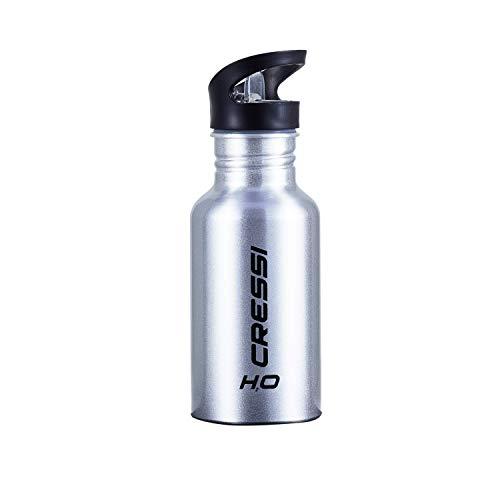 Cressi Water Bottle H20 Aluminum Borraccia Sportiva Termica, Silver, 500 ml