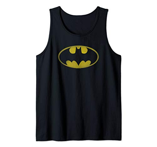 Batman Washed Bat Logo Tank Top