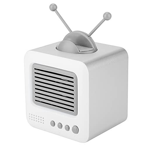 Altavoz Bluetooth portátil, Mini Altavoz inalámbrico con Soporte para teléfono, Alcance inalámbrico de 10 m, Subwoofer Bluetooth con Forma de TV Vintage, Reproducción de 8 Horas(Gris)