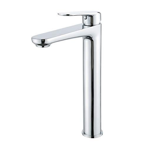 Sagetta Einhebelmischer Wasserhahn Waschbecken Armatur Bad Hoch Auslauf Waschtischarmatur Badarmatur Waschbecken Mischbatterie für Bad Chrom