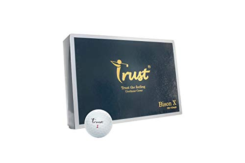 Trust Bison X, Urethane Covered for Swing Speed 105~115mph, 3 Piece Golf Ball, Durability, for...