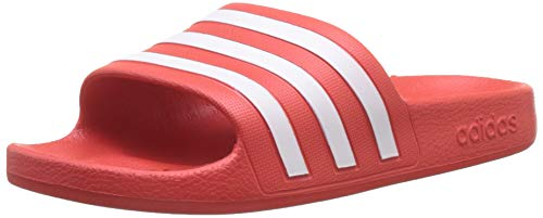 adidas Unisex Kinder Adilette Aqua Fitnessschuhe, Mehrfarbig (Active Red/Cloud White/Active Red), 38 EU